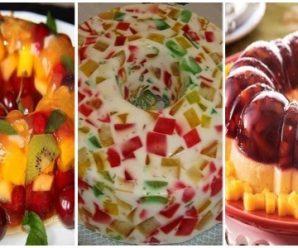 Recetas para Preparar Gelatinas con Frutas y de Mosaico